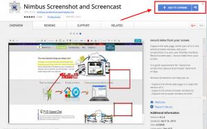 nimbus screencast and screenshot